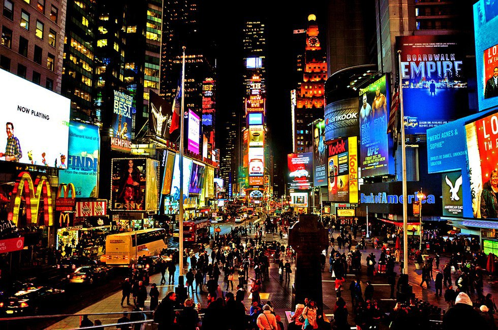 New york city times square movie