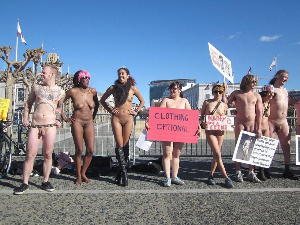 Peta protest nude