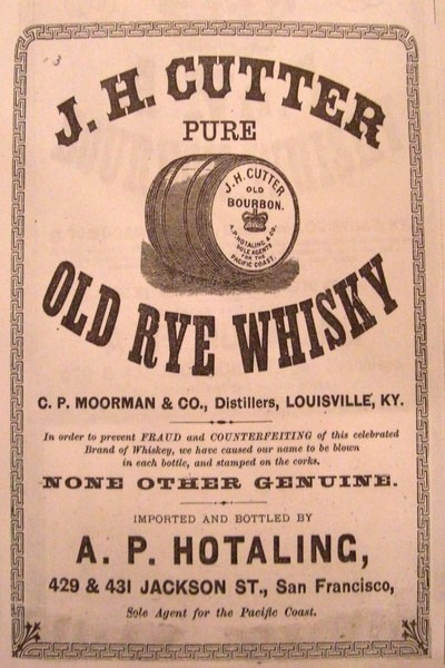 J.H. Cutter Pure Old Rye Whiskey