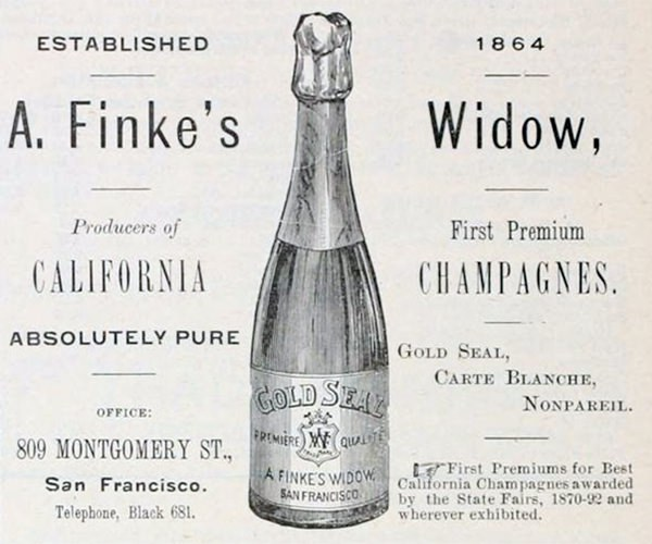 A. Finke's Widow California Champagne