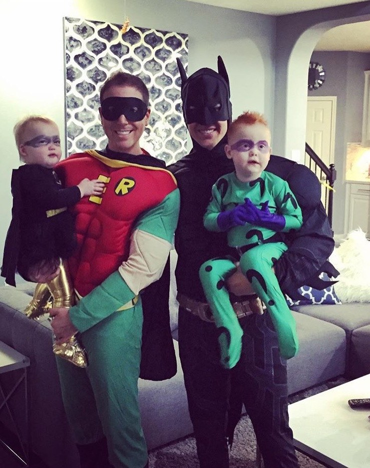 D.C. Superheros Corey Brian and their two kids Houston Texas.  sc 1 st  Gays With Kids & Our Favorite Gay Family Holiday: Halloween - Gays With Kids