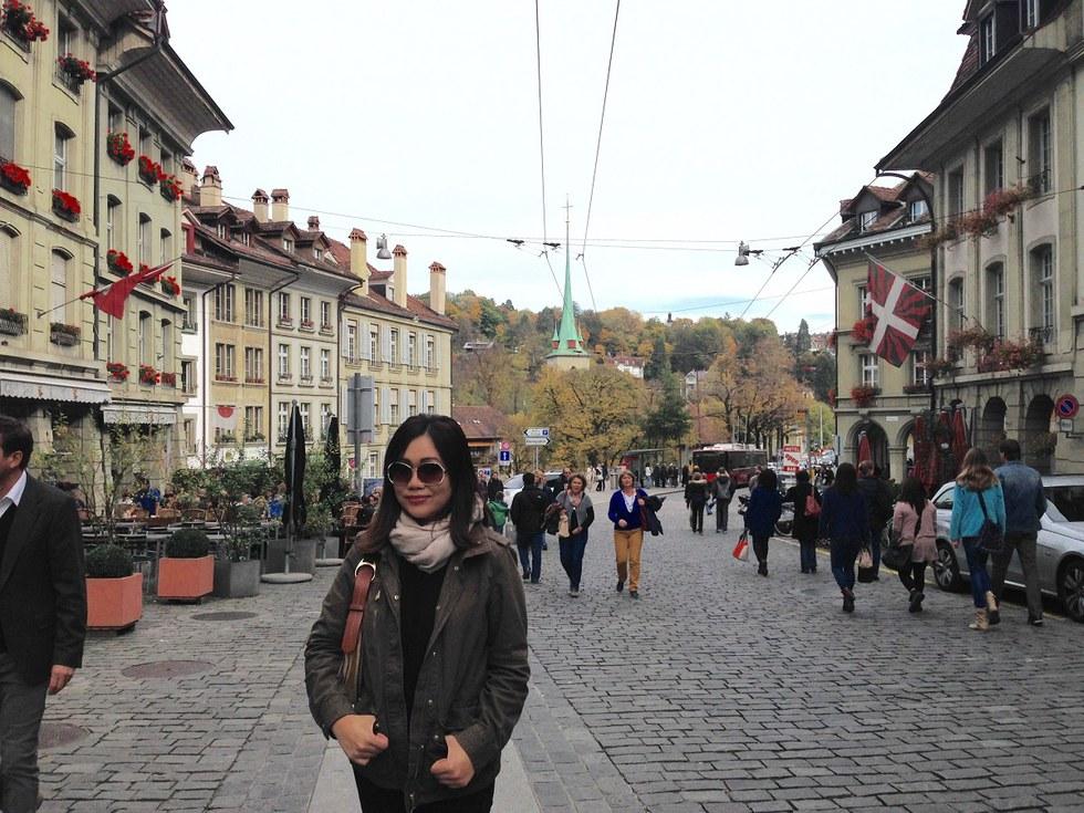 United employee, Hannah Rebosura, in Bern, Switzerland