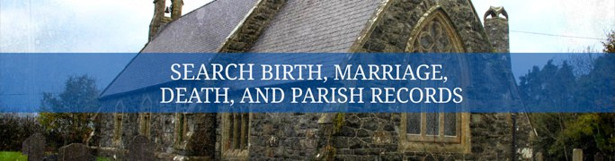 Search birth, marriage, death and census records