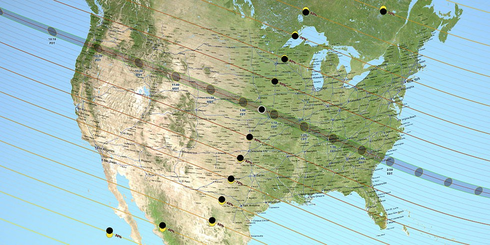Eclipse viewing safety on