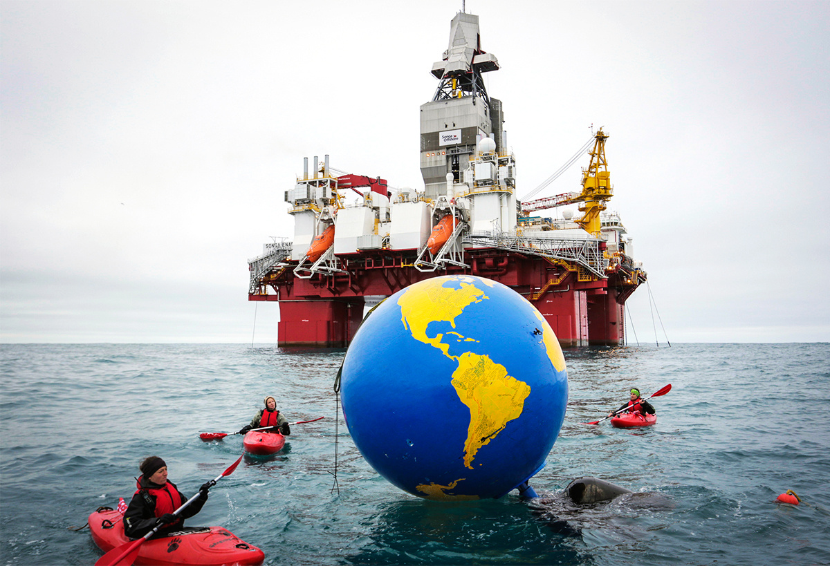 Greenpeace Activists Interrupt Operations at an Arctic Oil Drilling Site