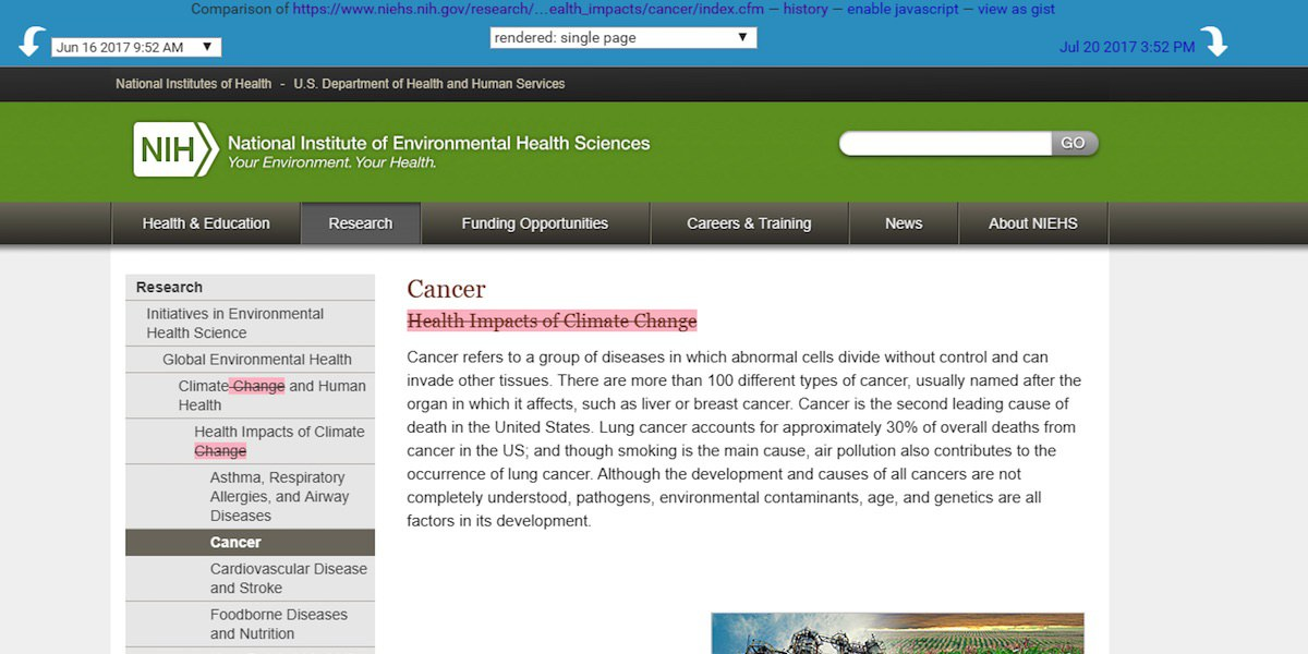 Climate Change Removed From National Institutes Of Health Website