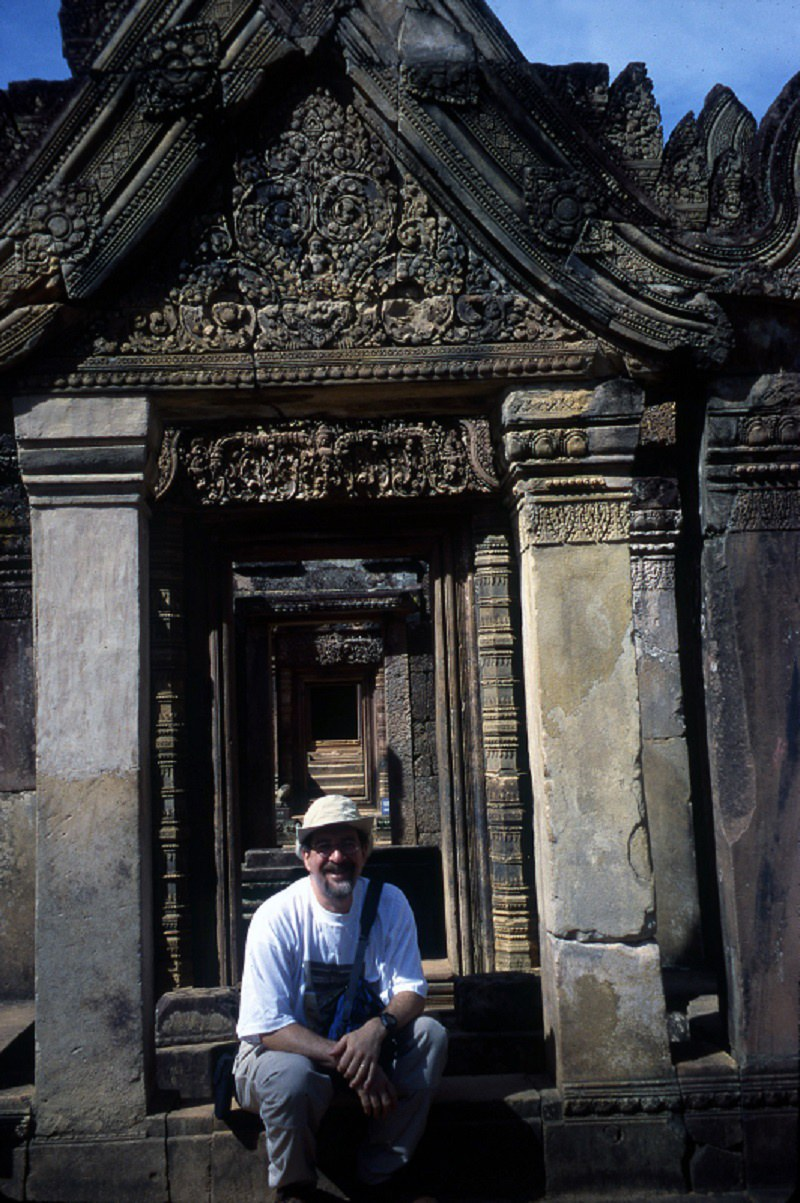 David during their stop in Cambodia