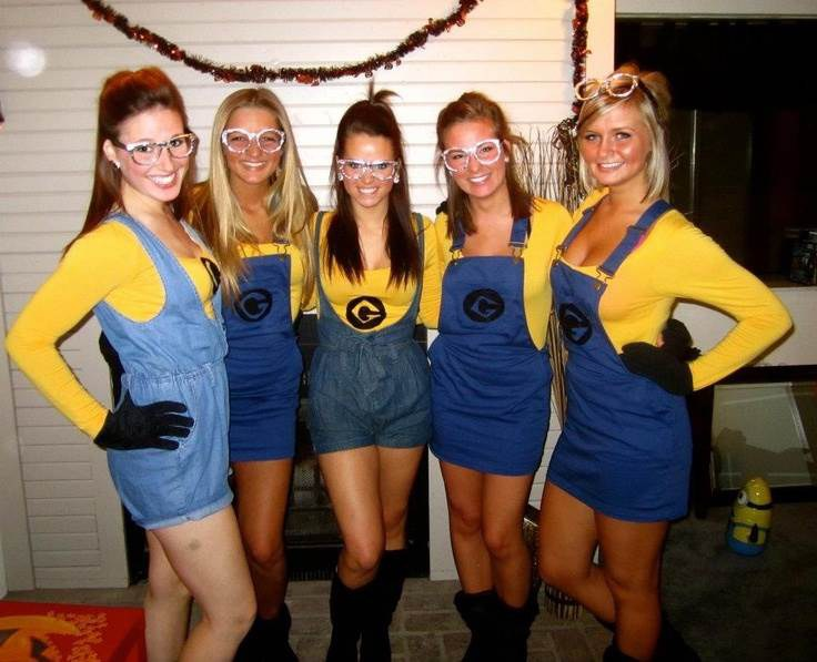this outfit is incredibly popular but paying homage to despicable me is a super easy way to coordinate a silly group costume
