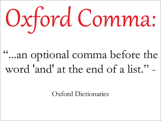 14 reasons you should use the oxford comma