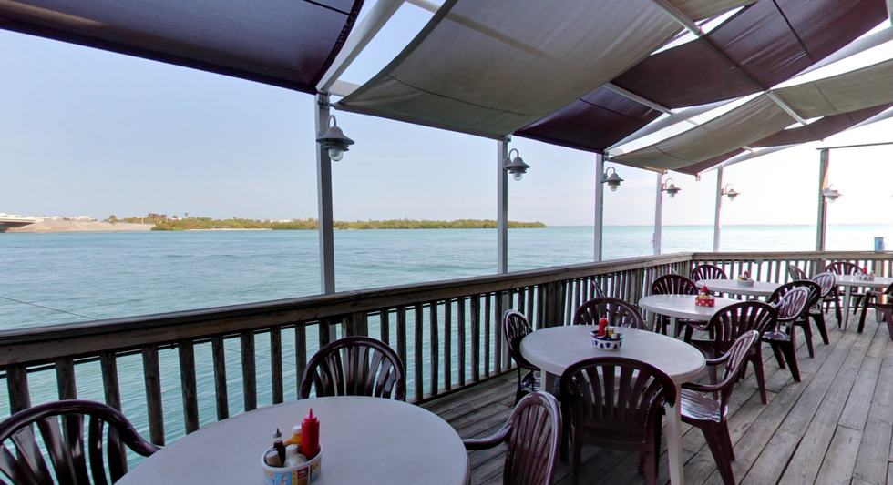 Known For Its Earance On Man V Food The Travel Channel This Waterfront Restaurant And Pub Can Be Found Both Siesta Key Longboat