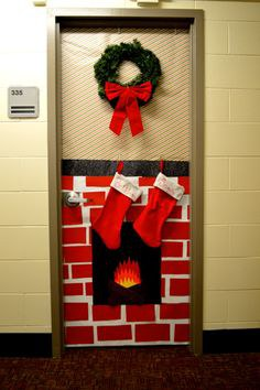 if youre living in a dorm with boring white walls whats a better way to spice up the whole building than decorating your door - How To Decorate Your Door For Christmas