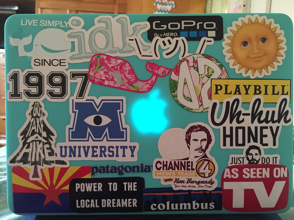 6 stickers youll see on a college students laptop