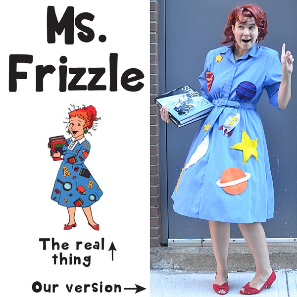 buckle up for this costume who doesn t remember the quirky ms frizzle who helped us learn about science