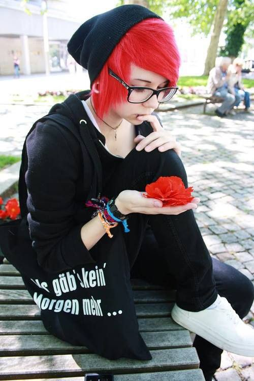 Cute emo boys with red hair