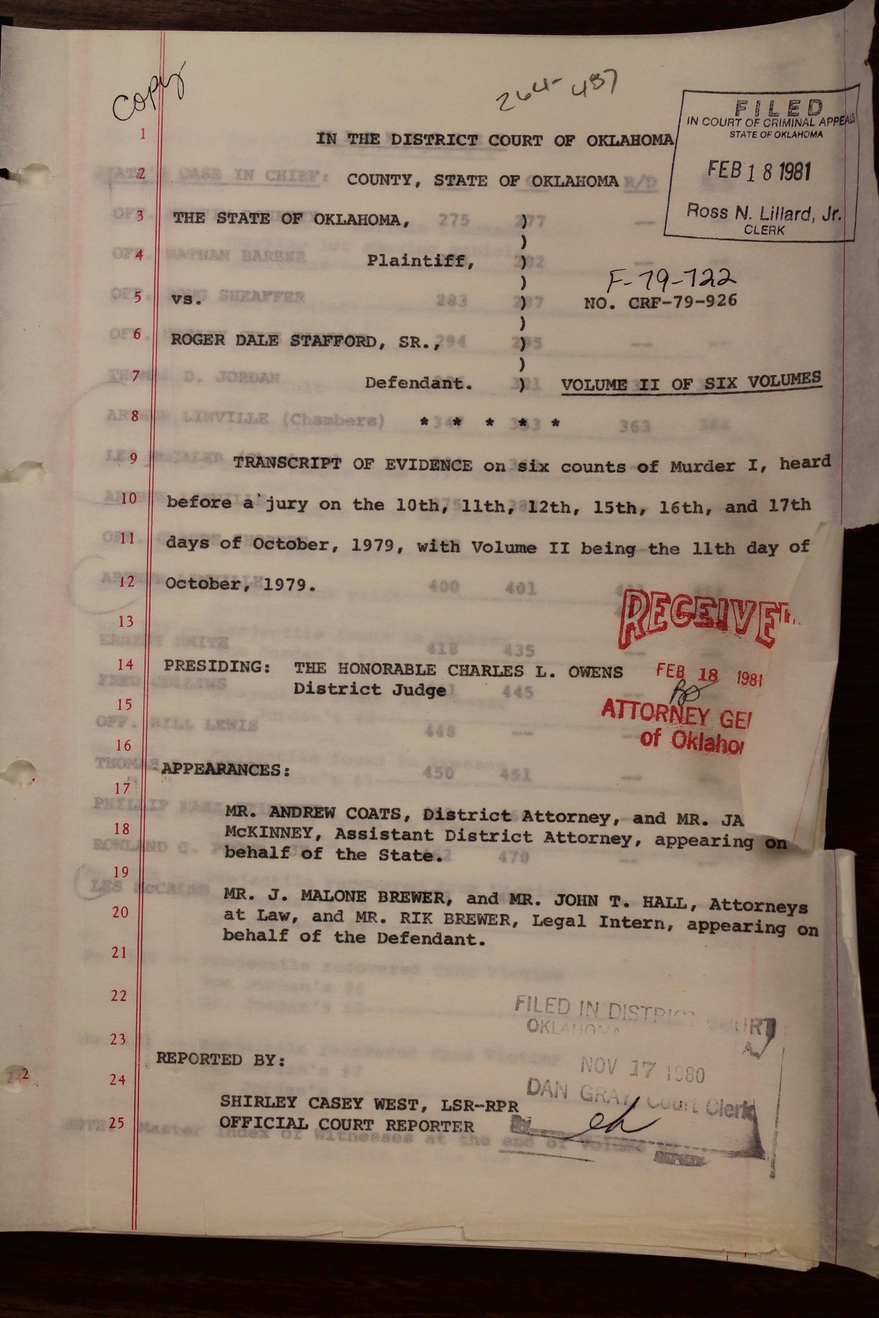 Oklahoma Files Part 1: The Stafford Killings Of 1978