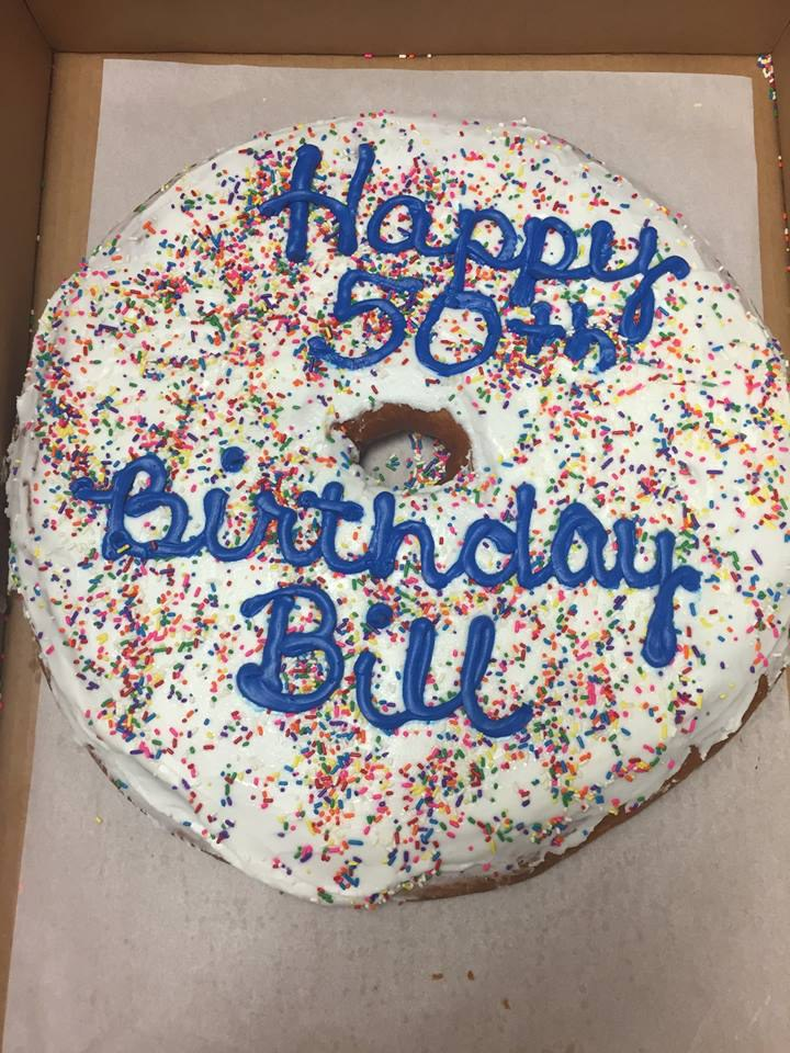 I Would Choose A Giant Donut Over Birthday Cake Any Day And If Your Grad Party Had Bills You Knew Where To Find Me