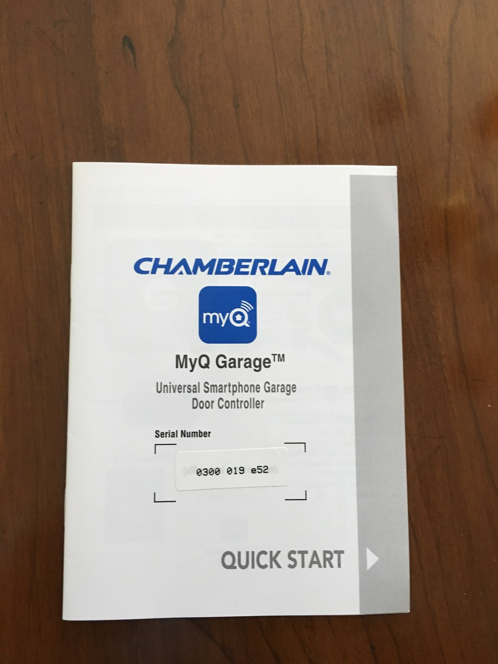 Chamberlain MyQ Garage Quick Start Guide
