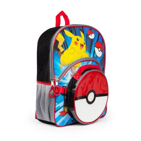 Pikachu backpack with removable pokeball lunch box - Walmart  12.88 aafcb4bd81c48
