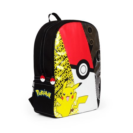 Pikachu Backpack With Pokeball Zippers