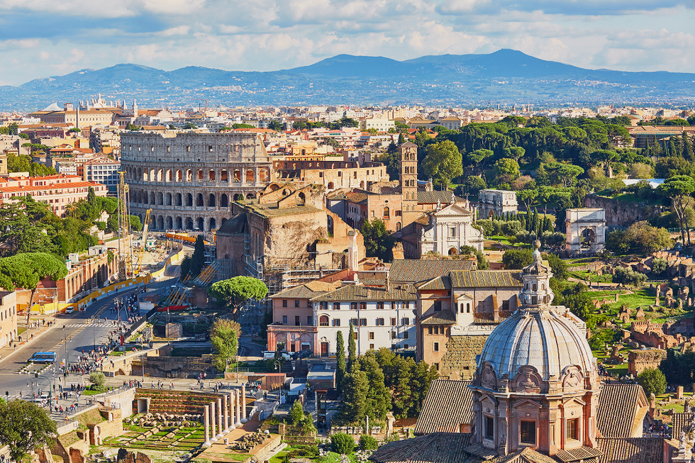 Overview of the city of Rome