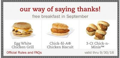 Chick fil et coupons