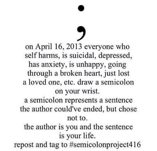 I Got A Semicolon Tattoo And Heres Why