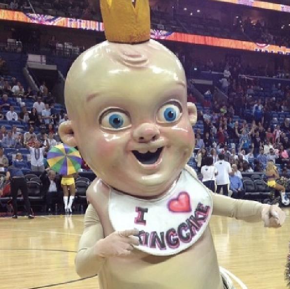 New Orleans Baby Cakes Mascot Baseball