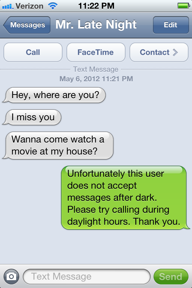 How I Became The Late Night Text