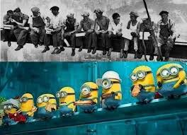 48 The Scene With Row Of Minions Sitting And Eating Lunch On A Girder Is Designed To Be Replica Famous Photo Atop Skyscraper