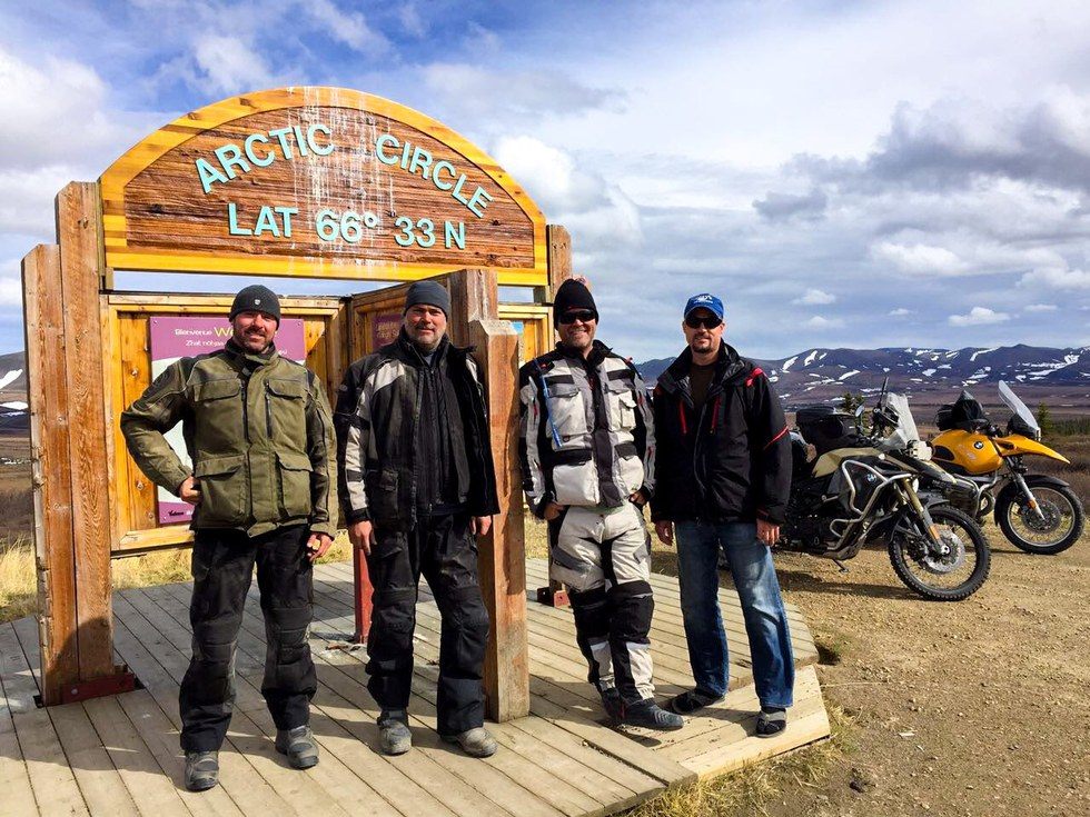 United employee, Dan Bartlett and friends on a motorcycle adventure