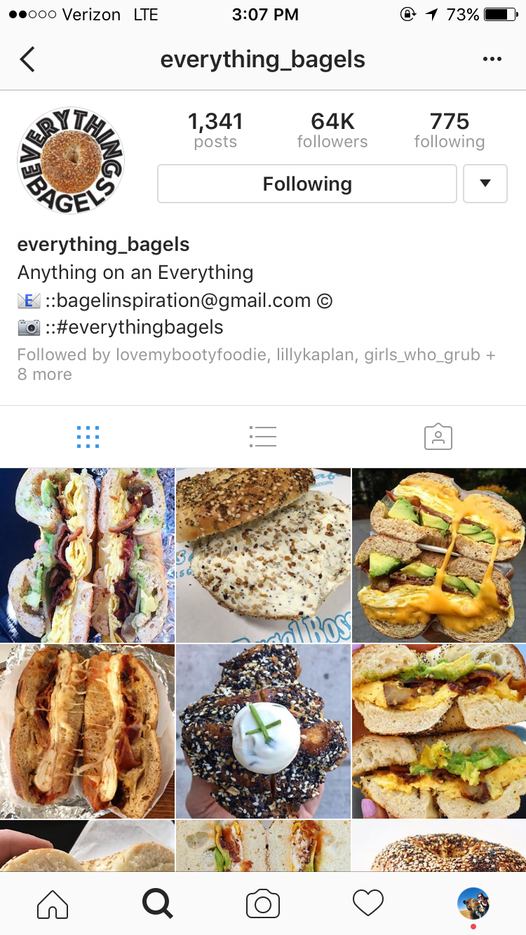 11 best food porn instagram accounts everything bagels is the best account to follow for all my bagel lovers out there bacon egg and cheese check forumfinder Choice Image