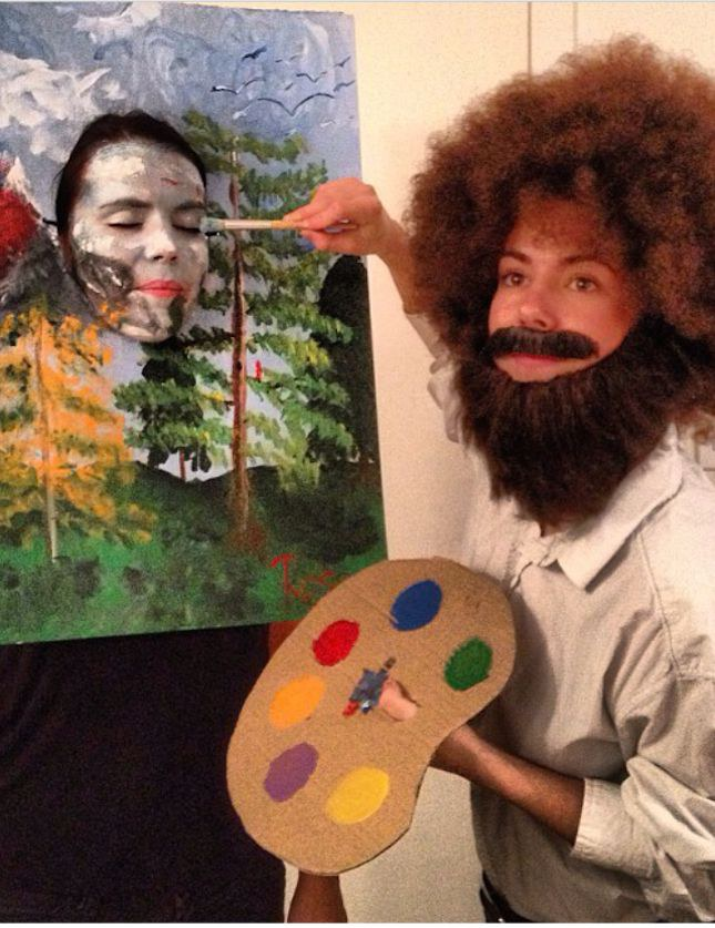2. Bob Ross u0026 His Painting  sc 1 st  Odyssey & 31 Greatest DIY Halloween Costumes For College Students
