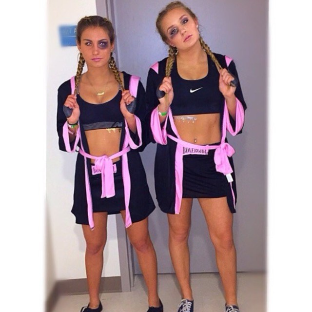 31 greatest diy halloween costumes for college students all you need is a sports bra spandex and a warm up robe braid your hair and paint on a black eye to knock out the competition with this easy diy costume solutioingenieria Image collections