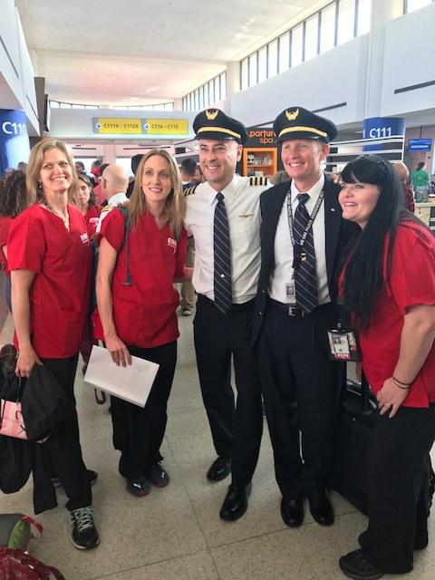 Registered nurses and United pilots heading down to volunteer in Puerto Rico