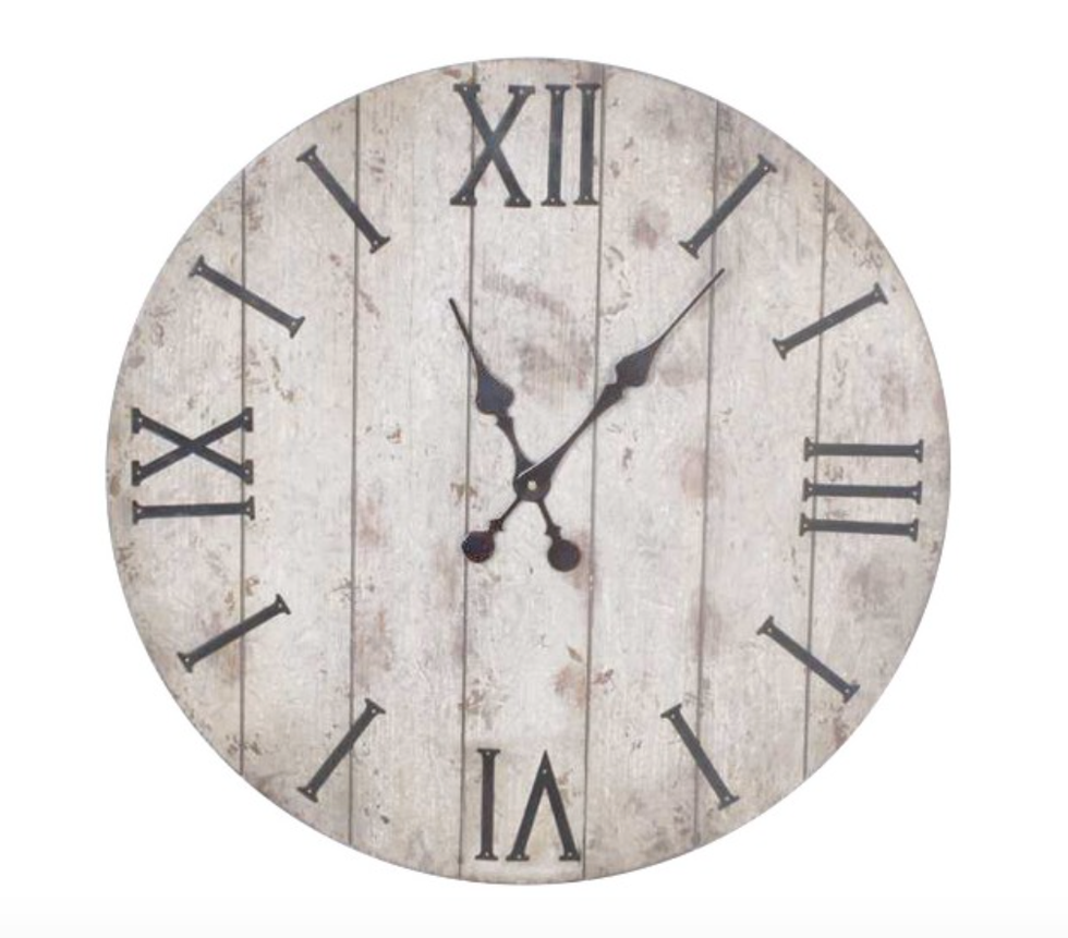 24 pinterest perfect dorm decors to grab on your next target trip 2 24 wall clock white washed wood finish dailygadgetfo Images