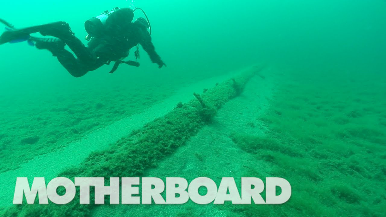 photo image The Old, Hidden Pipeline at the Bottom of the Great Lakes