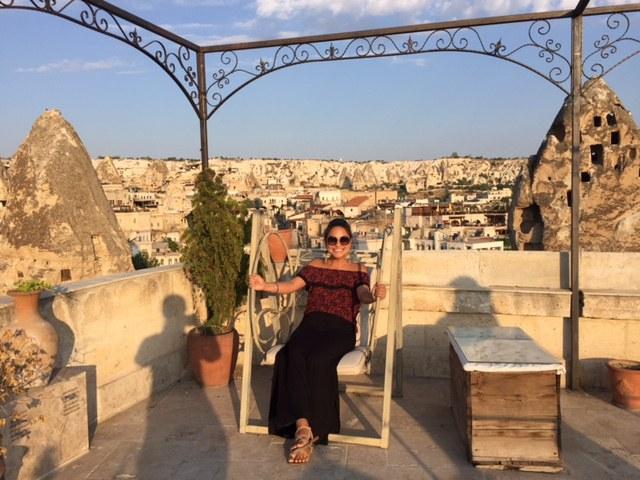 United employee exploring Cappadocia
