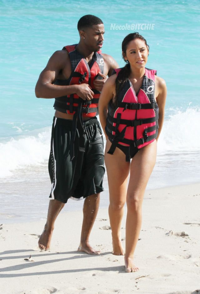 Michael B Jordan Spotted Shirtless In Miami While On A Jet Ski Date