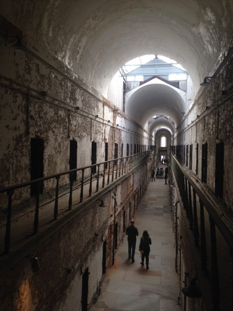 Main hallway of cells in the penitentiary