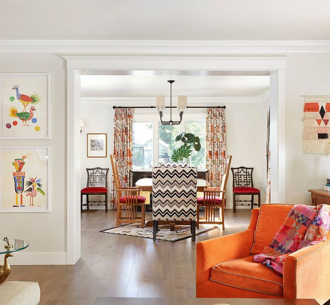 house tour bright color and bold pattern revive a 1930s tudor home