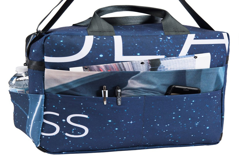 One of the winning upcycle travel bag designs
