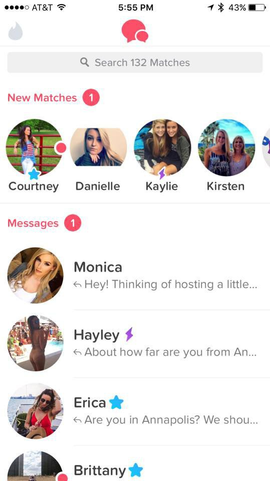 Most matches on tinder