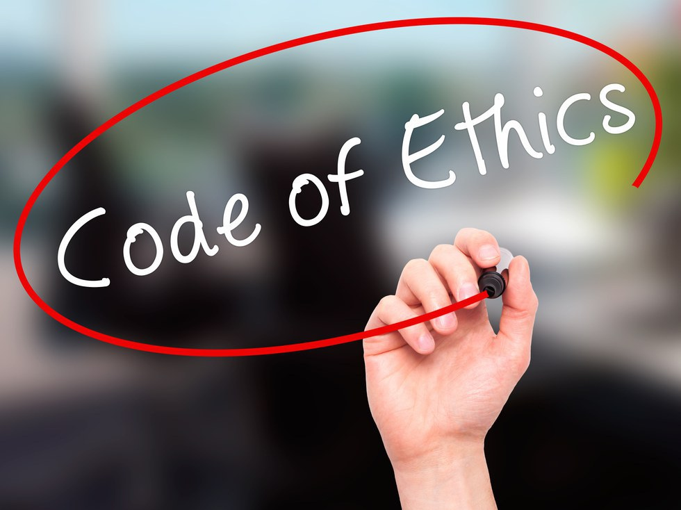 code of ethics This code of business conduct and ethics reflects the business practices and principles that support this commitment all peetniks are expected to read and understand the code and its application to.