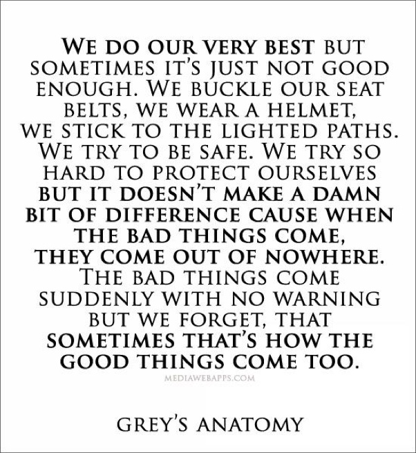 15 Grey\'s Anatomy Quotes To Help You Ride Out The Pain