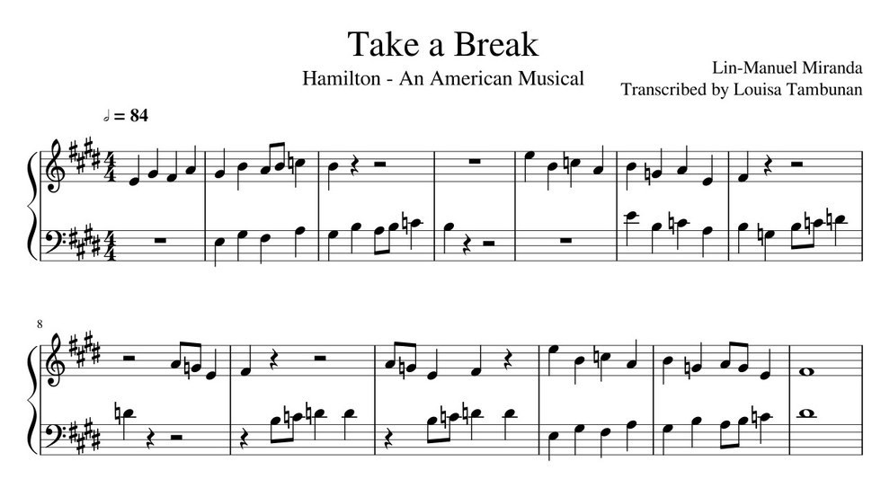 Piano piano sheet music with letters : 10 'Hamilton' Tunes You Can Learn To Play On The Piano In 10 Minutes