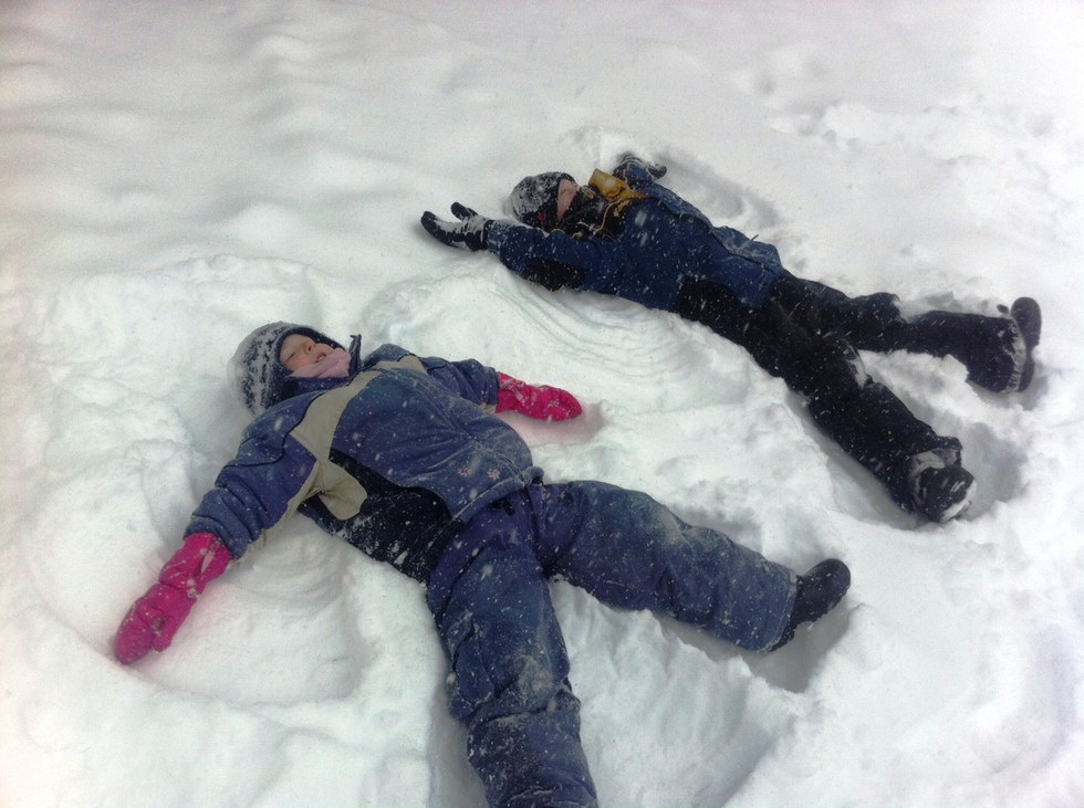 Completely childish things to do in the snow