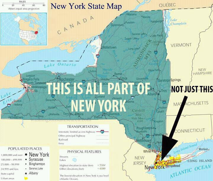 Signs You Grew Up In Upstate New York - Map of upstate new york