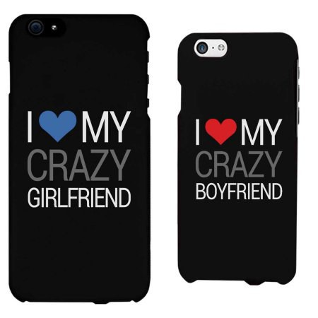 dont do matching anything it is tacky and basic most guys would rather be caught dead than have to place a phone case of them and their girlfriend