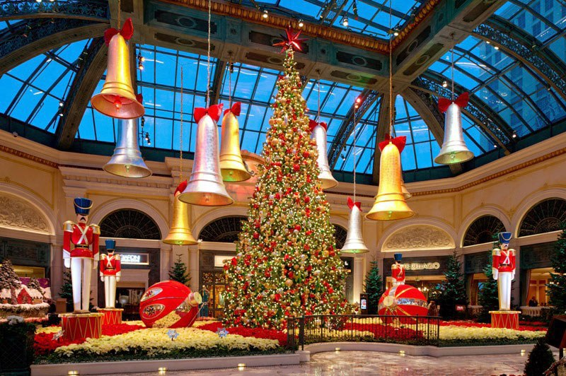 if you live in las vegas you probably know how big of a deal the bellagio conservatory and botanical gardens are the famous hotel elaborately redecorates - Las Vegas Christmas Decorations