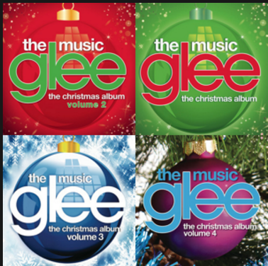 glee has a lot of other albums too and here is the hyperlink to a glee christmas playlist